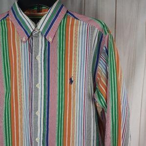 Polo Ralph Lauren M Classic Fit Rainbow Stripe